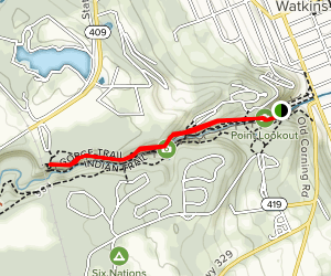 Watkins Glen Indian Trail Map