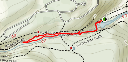 Gorge Trail and Lovers Lane Loop Map