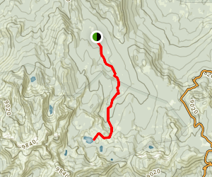 Upper Twin Lake from Sample Meadows Map