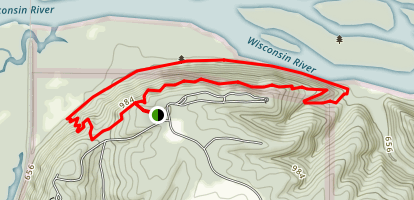 Old Immigrant Trail and Bluff Trail Loop Map