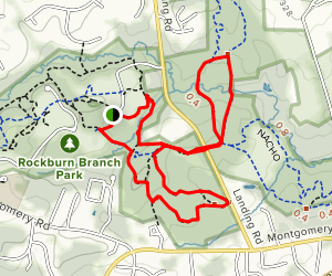 Rockburn, Pain Cave and Morning Choice Loop Map