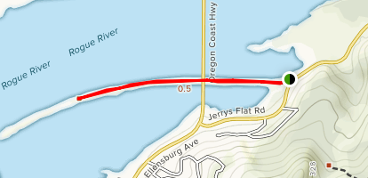 Rogue Center Jetty Map