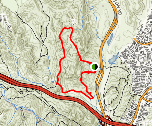 Little Sycamore Canyon and Serrano Ridge Loop Map