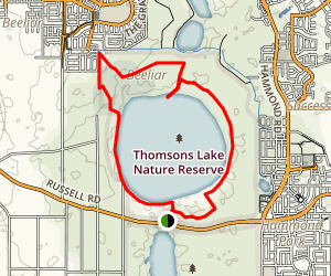 Thomsons Lake Map