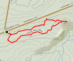 Louil Hill Trail Map