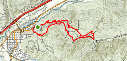 Bone Yard and Red Neck Ridge Loop Map