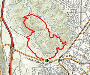 Green Mountain and Rooney Valley Trail Map