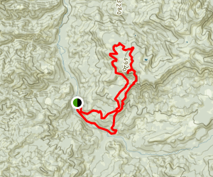 Moon Point and Young's Rock via Young's Creek Trail Map