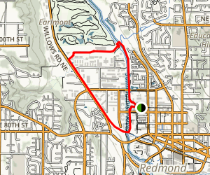 Redmond Connector to PSE Trail to Sammamish River Trail Loop Map