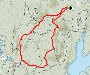 Hewitt-Buttler Trail to Otter Hole Trail Loop Map