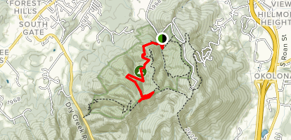 Cascade Trail to Tip Top Trail Map