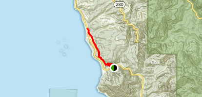 Oregon Coastal Trail: Humbug Section Map