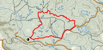 Trail 1 and 3 Loop from Etienne Brûlé Map