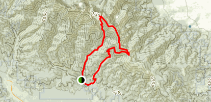 Elkhorn Ridge Loop Map