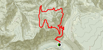 Chucksney Mountain Loop via Box Canyon Map