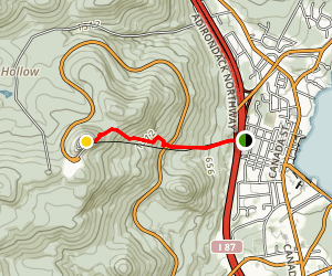 Prospect Mountain Trail Map