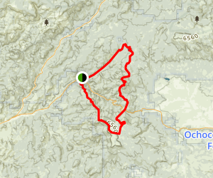 Round Mountain and Lookout Mountain Loop Trail Map