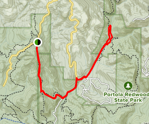 Upper Coyote Ridge Trail to Old Page Mill Trail Map