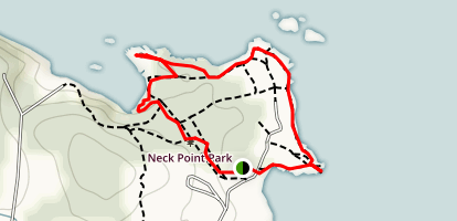 Neck Point Park Loop Map