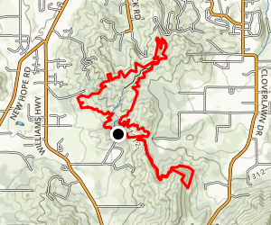 Cathedral Hills Loop Map