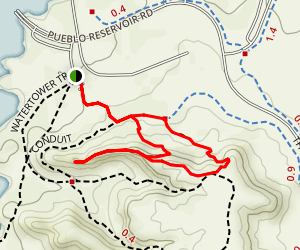 The Duke to Steep Tech, Arkansas Point, and Staircase Trail Map