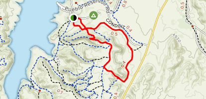 The Duke, Arkansas Point and Staircase Loop  Map