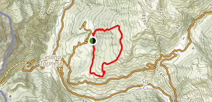 Fraiteve Loop via San Sicario Map