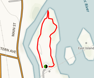 Mill Island Park Loop Map