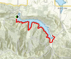Cooper Creek Reservoir Trail Map