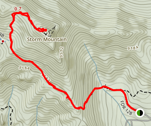 Storm Mountain Map