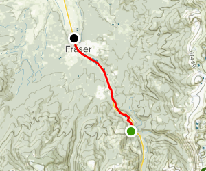 Winter Park to Fraser Trail Map