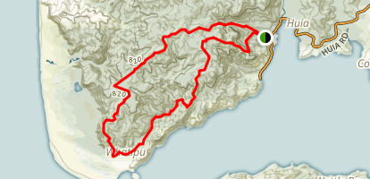 Huia to Whatipu Loop via Valley Floor Map