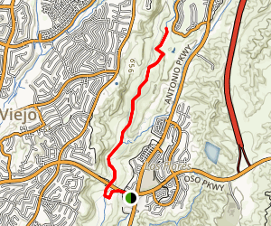 Arroyo Trabuco Trail - Oso Parkway Map