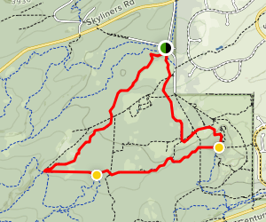 Phil's Trail to KGB to Marvin's Garden Loop Map