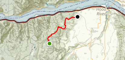 Post Canyon via Binns Hill Staging Area Map