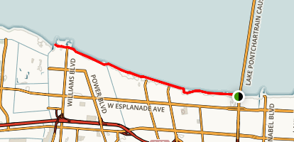 Linear Park Bicycle Path Map