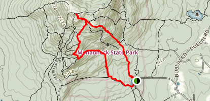 Mount Monadnock via White Dot and Lost Farm Trail Loop Map