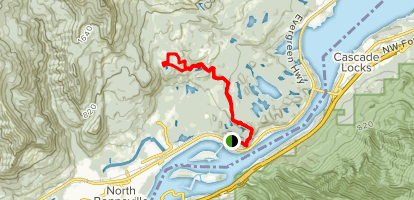 Tamanous Trail to PCT & Gillette Lake Map