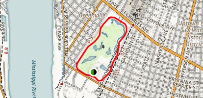Audubon Park Loop Map