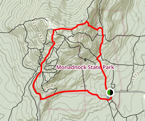White Dot, Cascade Link, Pumpelly, White Arrow, Parker Loop Map