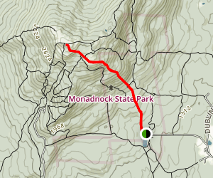 White Dot to Mount Monadnock Map