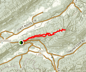 McAfee Knob via Appalachian Trail Map