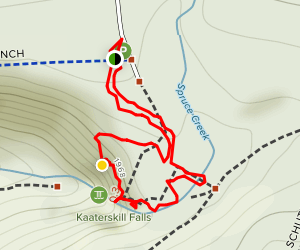 Katterskill Falls from Laurel House Road Map