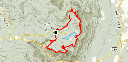 Kaaterskill Falls, South Mountain, and North Point Loop Map