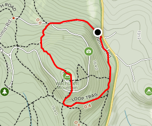 Wachusett Mountain via Old Indian Trail Map