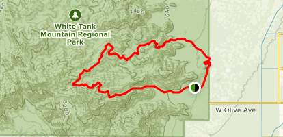 Goat Camp Trail to Mesquite Canyon Trail Loop Map