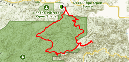 Boney Ridge Traverse Map