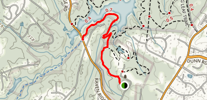 Epps Forest and Falls Lake Trail Map