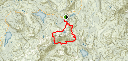 Fourth of July Lake Loop Map