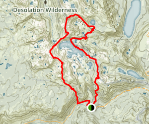 Desolation Wilderness 5 Peaks Loop Map